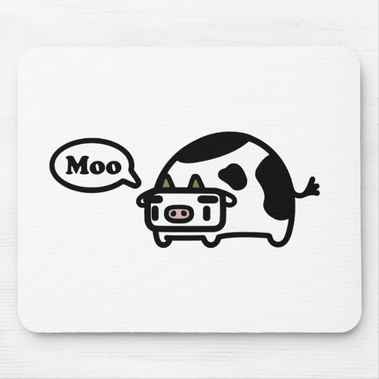 Mooing Cow Mouse Pad