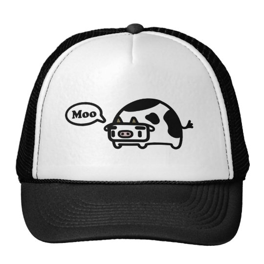 Mooing Cow Trucker Hat
