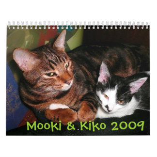 Mooki y Kiko 2009 Calendarios De Pared