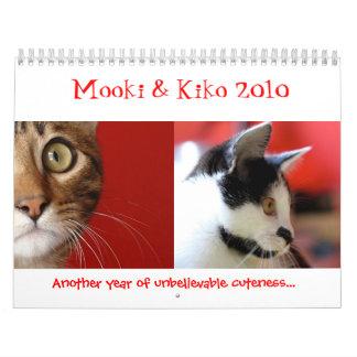 Mooki y Kiko 2010 Calendarios De Pared