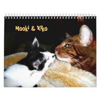Mooki y Kiko Calendarios