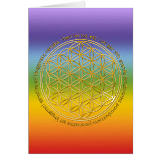 Moola Mantra Blume Des Lebens chakren color Grußkarten