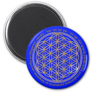 Moola Mantra, flor la vida |/royal Imán Redondo 5 Cm
