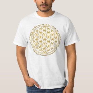 Moola mantra/flower of the life t-shirt