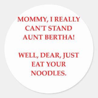 moommy joke classic round sticker