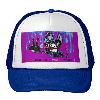 "MooMoo the Emo Cow. ""I'm a Cow"" Cartoon.Cow.Emo Trucker Hats"