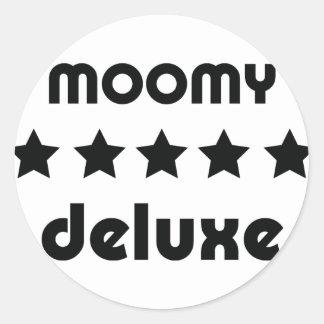 moomy deluxe icon classic round sticker