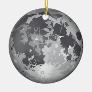 moon-2661 Double-Sided ceramic round christmas ornament