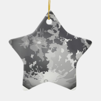 moon-2661 Double-Sided star ceramic christmas ornament