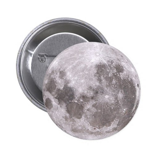 moon 2 Inch Round Button