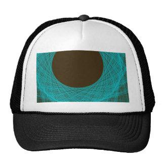 moon abstract art hats