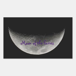 Moon adhesive of the Fairies Rectangular Sticker