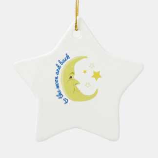Moon And Back Ceramic Ornament