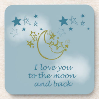 Moon and Back Drink Coaster