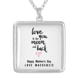 Moon and Back   Mother's Day Necklace