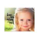 Moon and Back   Mother's Day Photo Canvas Canvas Print