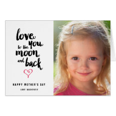Moon and Back | Mother's Day Photo Greeting Card