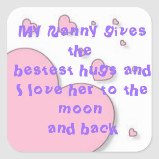 Moon and Back Nanny Square Sticker