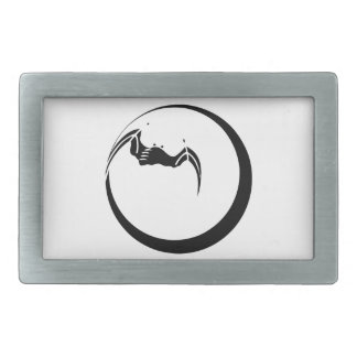 Moon and Bat Belt Buckle