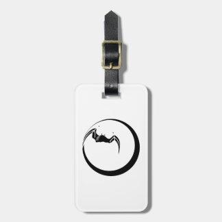 Moon and Bat Luggage Tag