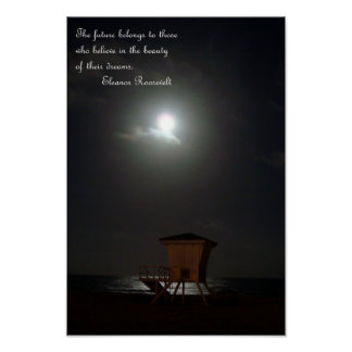 moon and cabana and quote canvas poster