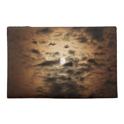 Moon and Cirrus Clouds Travel Accessories Bags