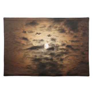 Moon and Cirrus Clouds Placemat