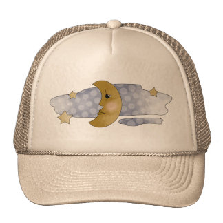 Moon and Clouds Trucker Hat