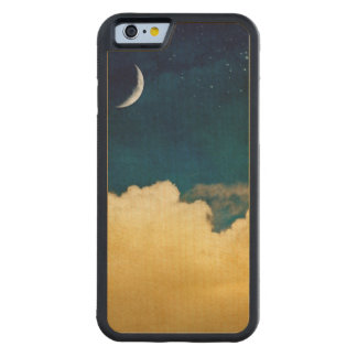 Moon And Cloudscape Carved Maple iPhone 6 Bumper Case