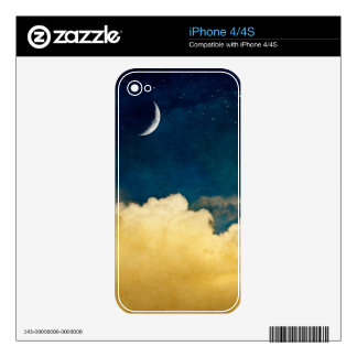 Moon And Cloudscape iPhone 4S Decal