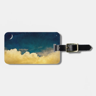 Moon And Cloudscape Luggage Tag
