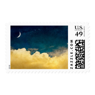 Moon And Cloudscape Stamp