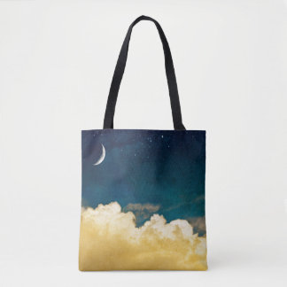 Moon And Cloudscape Tote Bag
