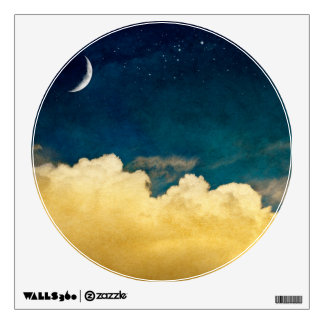 Moon And Cloudscape Wall Sticker