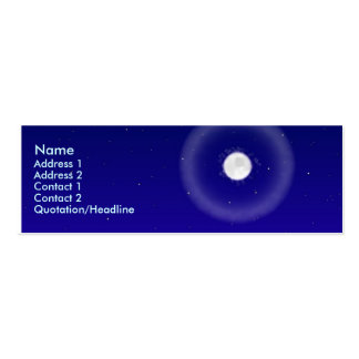 Moon and Dunes profile Card Business Card Templates
