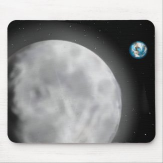 Moon and Earth Mousepad