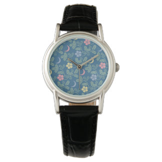 Moon and Flowers Wristwatches