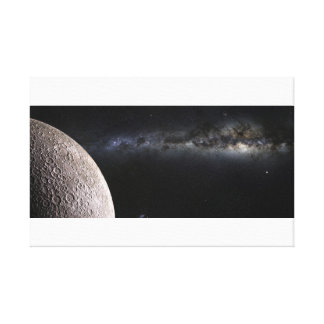 Moon and Galaxy. Gallery Wrap Canvas