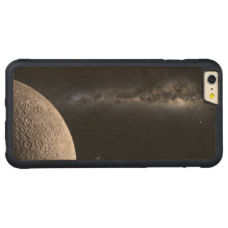 Moon and Galaxy. Carved® Maple iPhone 6 Plus Bumper Case
