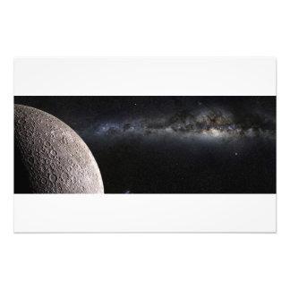 Moon and Galaxy. Photograph