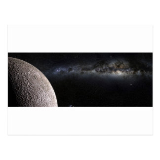 Moon and Galaxy. Postcard