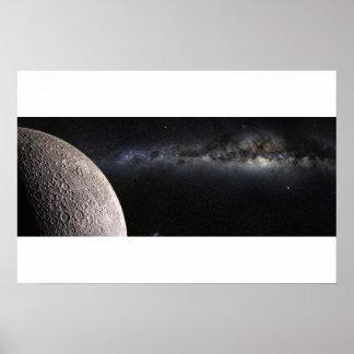Moon and Galaxy. Print