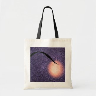 Moon and Grass Canvas Bag