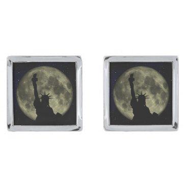 USA Themed Moon and Lady Liberty Cufflinks