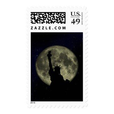 USA Themed Moon and Lady Liberty Postage