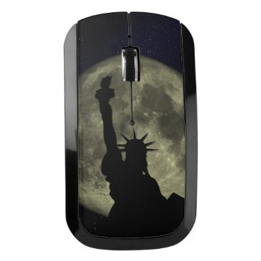 USA Themed Moon and Lady Liberty Wireless Mouse
