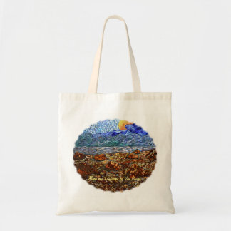 Moon and Landscape Tote Bag