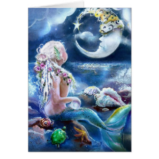 Moon and Mermaid Card