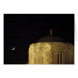 Moon and Mosque Card