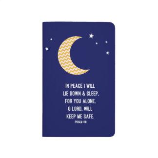 Moon and Navy Background Verse Sleep Journal